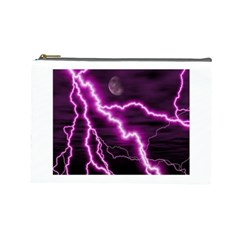 Purple Lightning Large Makeup Purse