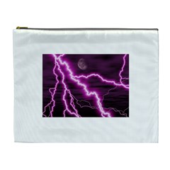 Purple Lightning Extra Large Makeup Purse
