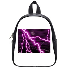 Purple Lightning Small School Backpack