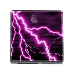Purple Lightning Card Reader with Storage (Square)