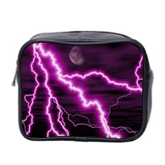 Purple Lightning Twin-sided Cosmetic Case
