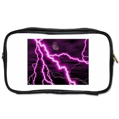 Purple Lightning Twin Sided Personal Care Bag