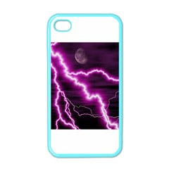 Purple Lightning Apple Iphone 4 Case (color)