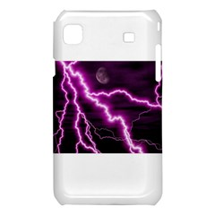 Purple Lightning Samsung Galaxy S i9008 Hardshell Case