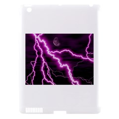 Purple Lightning Apple iPad 3 Hardshell Case (Compatible with Smart Cover)