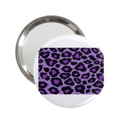 Purple Leopard Print Handbag Mirror