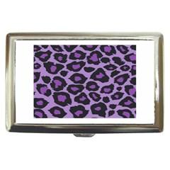 Purple Leopard Print Cigarette Box