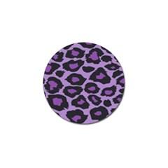 Purple Leopard Print Golf Ball Marker