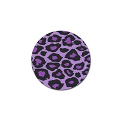 Purple Leopard Print 4 Pack Golf Ball Marker