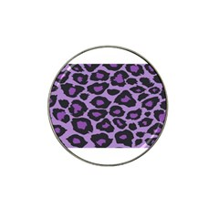 Purple Leopard Print 4 Pack Golf Ball Marker (for Hat Clip)