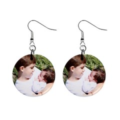 Grandbabies Mini Button Earrings