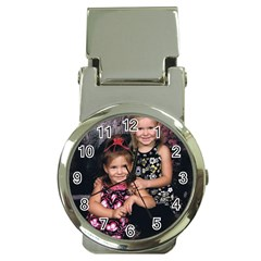 Grandbabies Chrome Money Clip With Watch