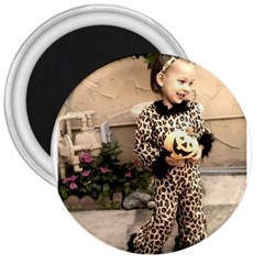 Trick or Treat Baby Large Magnet (Round)