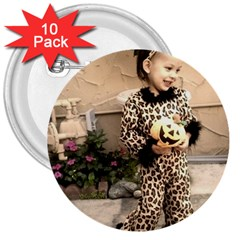 Trick or Treat Baby 10 Pack Large Button (Round)
