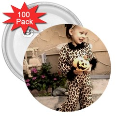 Trick or Treat Baby 100 Pack Large Button (Round)