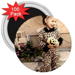 Trick or Treat Baby 100 Pack Large Magnet (Round)