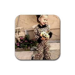 Trick or Treat Baby Rubber Drinks Coaster (Square)