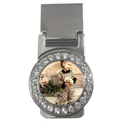 Trick Or Treat Baby Money Clip With Gemstones (round)
