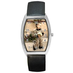 Trick Or Treat Baby Black Leather Watch (tonneau)