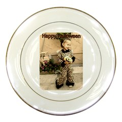 Trick Or Treat Baby Porcelain Display Plate