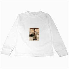 Trick or Treat Baby White Long Sleeve Kids'' T-shirt