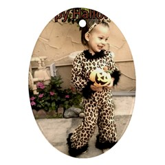 Trick Or Treat Baby Oval Ornament (two Sides)