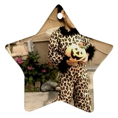 Trick Or Treat Baby Twin Sided Ceramic Ornament (star)