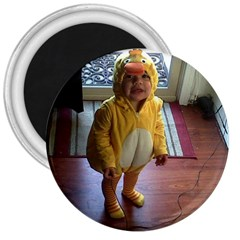 Baby Duckie Large Magnet (Round)