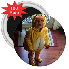 Baby Duckie 100 Pack Large Magnet (Round)