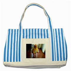 Baby Duckie Blue Striped Tote Bag