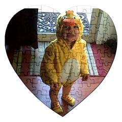 Baby Duckie Jigsaw Puzzle (heart)