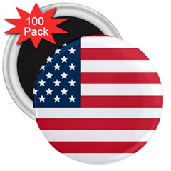 Flag 100 Pack Large Magnet (round)