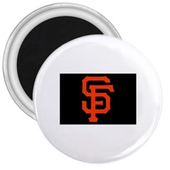 Sf Giants Logo Large Magnet (Round)
