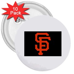 Sf Giants Logo 10 Pack Large Button (Round)