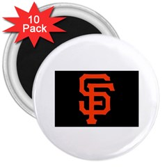 Sf Giants Logo 10 Pack Large Magnet (Round)