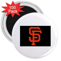 Sf Giants Logo 100 Pack Large Magnet (Round)