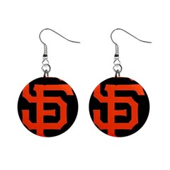 Sf Giants Logo Mini Button Earrings