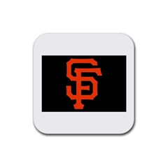 Sf Giants Logo Rubber Drinks Coaster (Square)