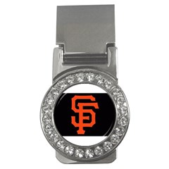 Sf Giants Logo Money Clip with Gemstones (Round)
