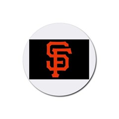 Sf Giants Logo 4 Pack Rubber Drinks Coaster (Round)
