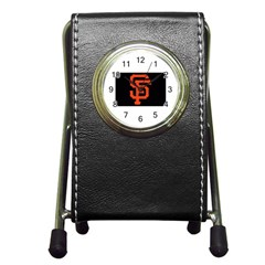 Sf Giants Logo Stationery Holder Clock