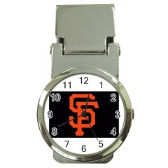 Sf Giants Logo Chrome Money Clip with Watch