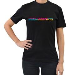 Design+Unique+Style Black Womens'' T-shirt