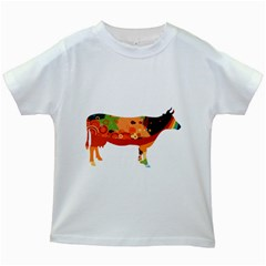 Tees Color Cow White Kids'' T-shirt