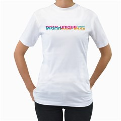Tees Color Word White Womens  T-shirt