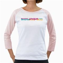 Tees Color Word White Long Sleeve Raglan Womens  T Shirt
