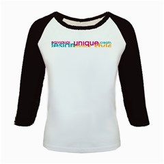 Tees Color Word Long Sleeve Raglan Womens'' T-shirt