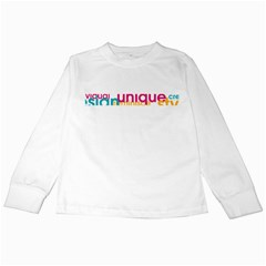Tees Color Word White Long Sleeve Kids'' T-shirt