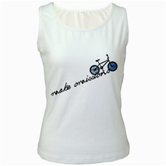 Tees Make Omissions White Womens  Tank Top