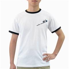 Tees Make Omissions White Ringer Mens'' T-shirt